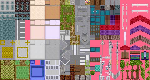 Simulation Country GAPAN 月本國 16×16RPGマップチップ素材
